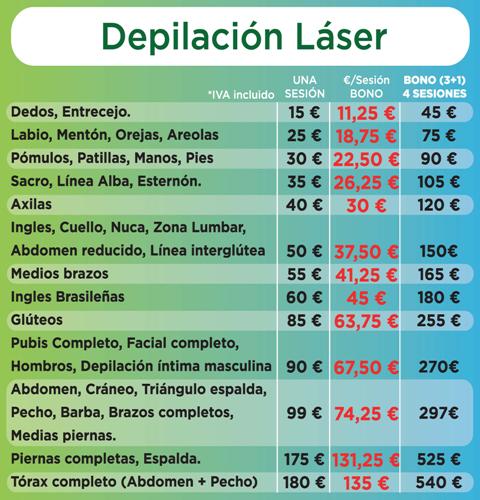 Precios depilación láser pozuelo